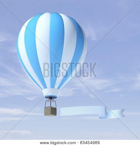 air balloon advertisement