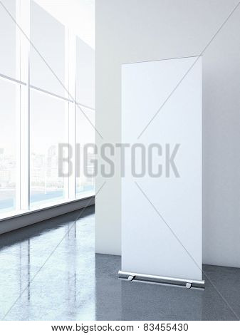 Roll up banner at office