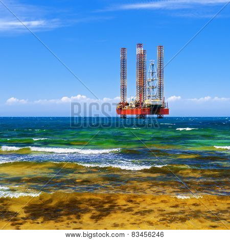 Drilling Platform In The Sea