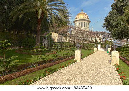 The Bahai Temple and gardens in Haifa, Israel