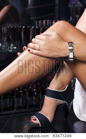 Sexy Legs, Fashion Sandals,luxury Watch And Diamond Ring