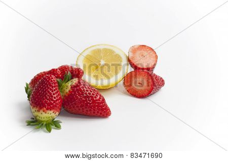 strawberries and lemon