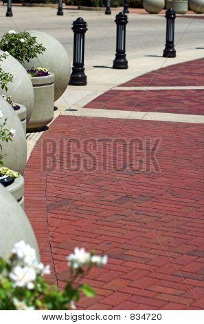Brick Walkway Background