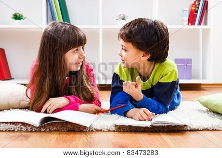 Children talking