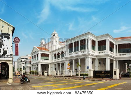Malaysia, Penang, Georgetown - Circa Jul 2014: The Beautiful Archetecture Of The Federal Courthouse