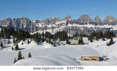 Scenery In The Flumserberg Ski Area