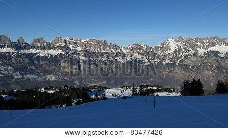 Evening In The Flumserberg Ski Area
