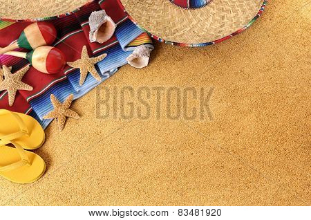 Mexican Beach Background