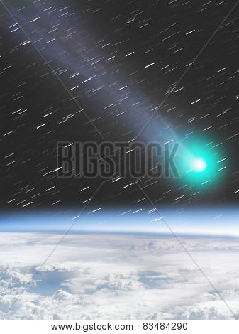Meteor/Comet hitting the Earth
