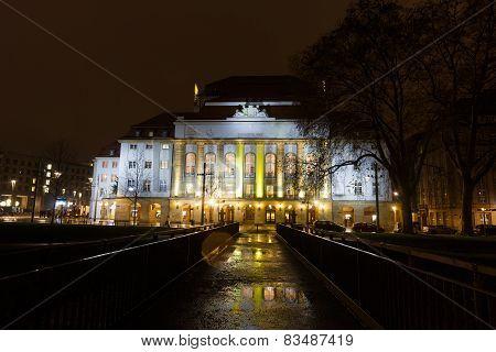 Schauspielhaus Theater At Night Time
