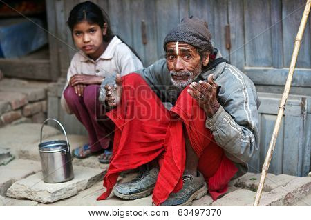 Nepalese Poor Family