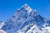 Ama Dablam mountain in Everest region Himalaya Nepal poster