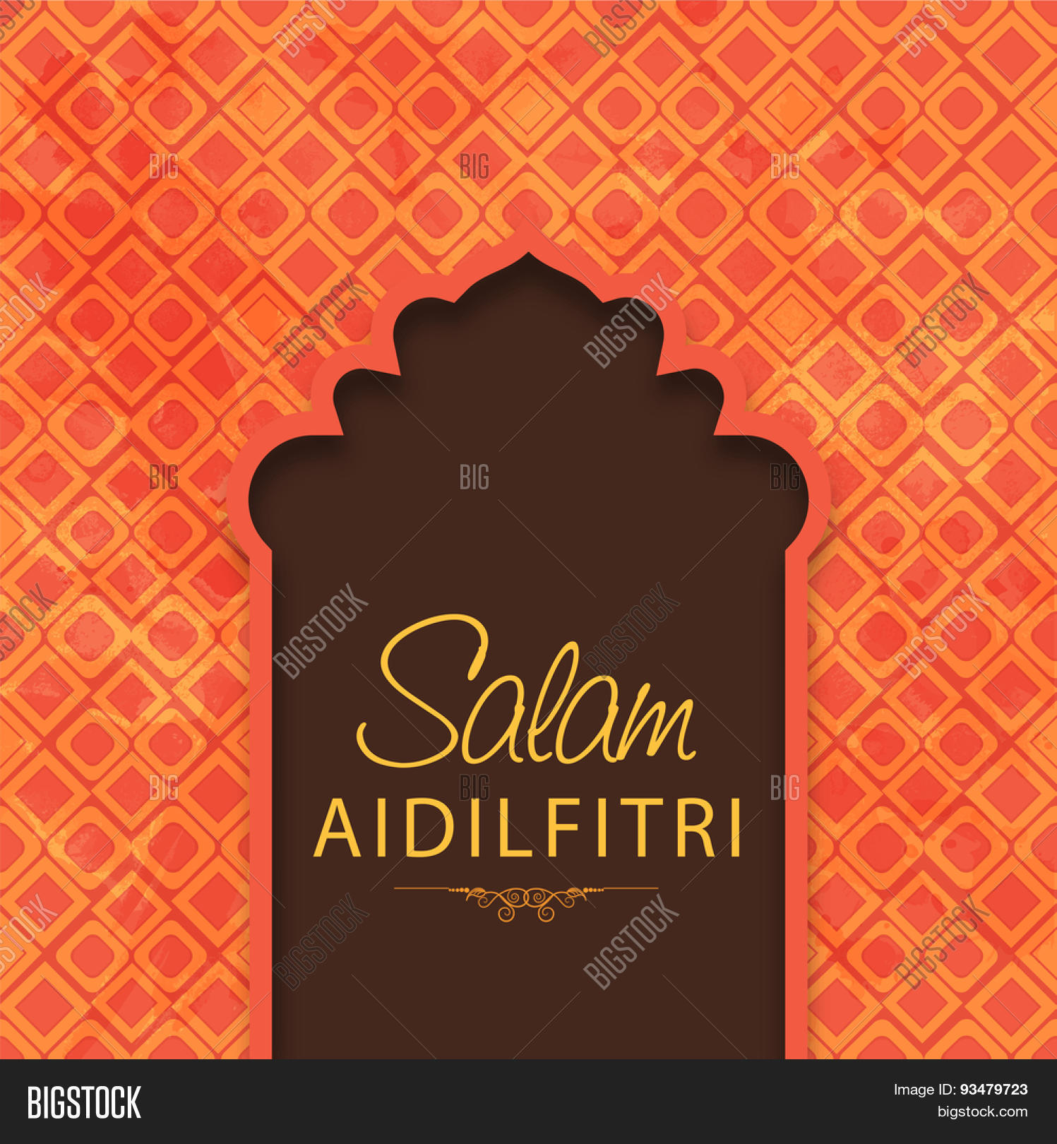Stylish Text Salam Vector Photo Free Trial Bigstock