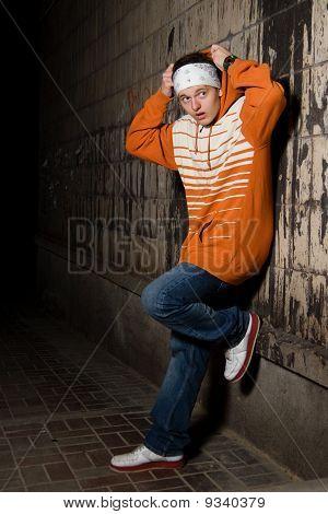 Teenage Gang Member On The Corner