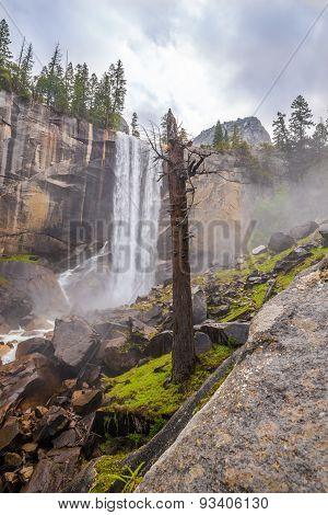 Vernal Fall In Yosemite National Park