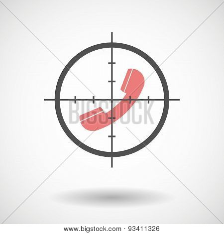 Crosshair Icon Targeting A Phone