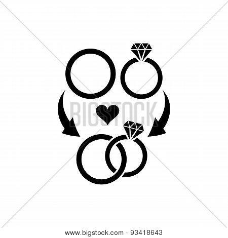 Wedding Rings Symbol