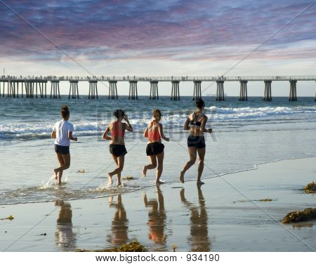 A Run To The Pier