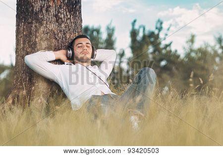 Man Enjoy In Music