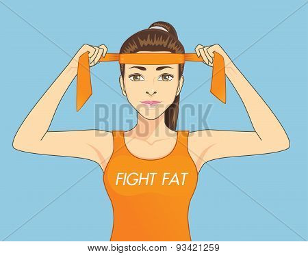 Women fighting fat