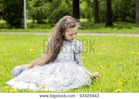 Girl Looks Sweet In The Princess Dress
