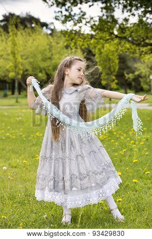Dancing Sweet Little Cutie In The Park