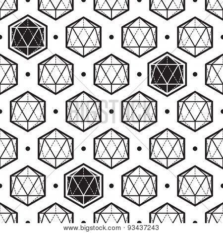 Polygon abstract isometric pattern
