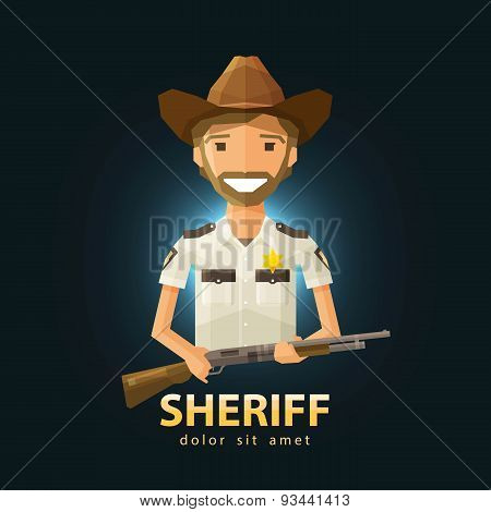 sheriff vector logo design template. police, LAPD or law, constabulary icon