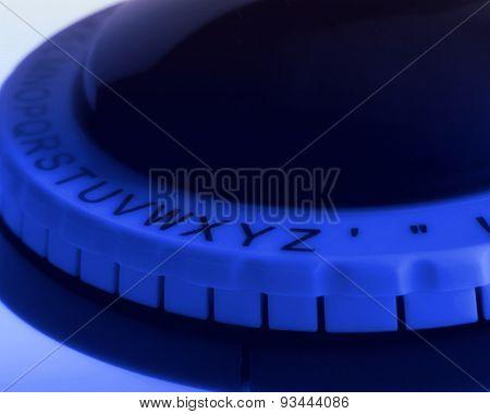 Close Up Of Alphabet Wheel Of Label Maker