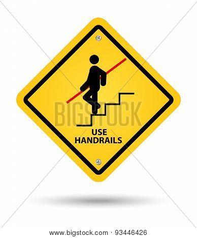 Handrail Sign