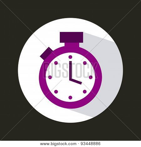timer icon design, vector illustration eps10 graphic poster