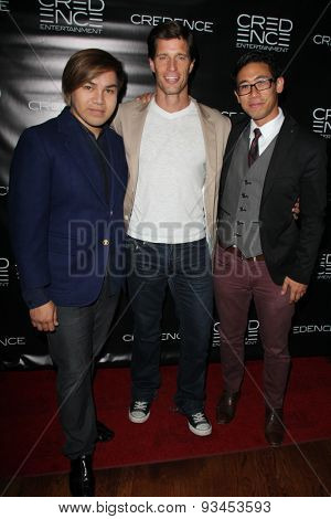 LOS ANGELES - JUN 10:  Niquio Valcobero, Rib Hillis, Joseph Tan at the