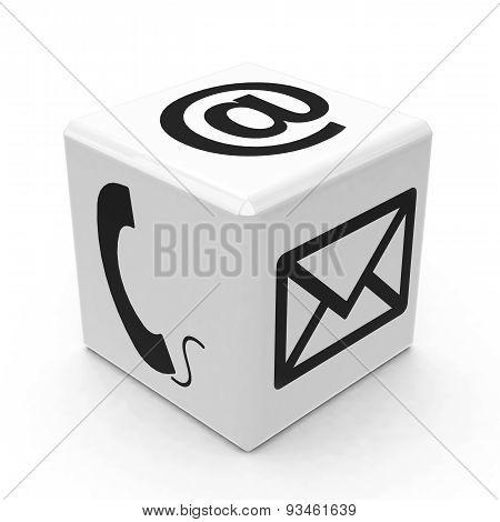 White Contact Button