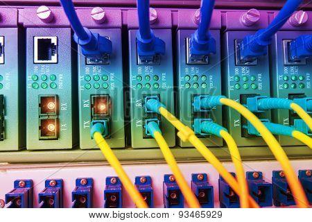 Fiber optic equipment in a data center