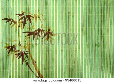 bamboo Background great for any project. frame of bamboo-leaves background.