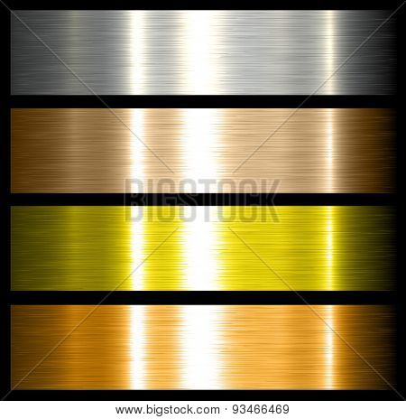 metal backgrounds brushed metallic textures with reflections.