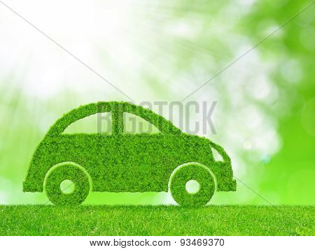 Green eco car - concept of ecological power