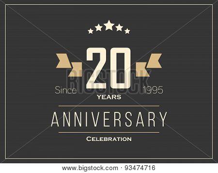 Twenty years anniversary celebration logotype. 20th anniversary logo.