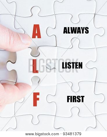 Last Puzzle Piece With Business Acronym Alf