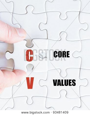 Last Puzzle Piece With Business Acronym Cv