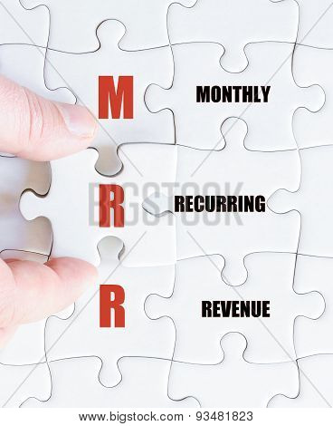 Last Puzzle Piece With Business Acronym Mrr