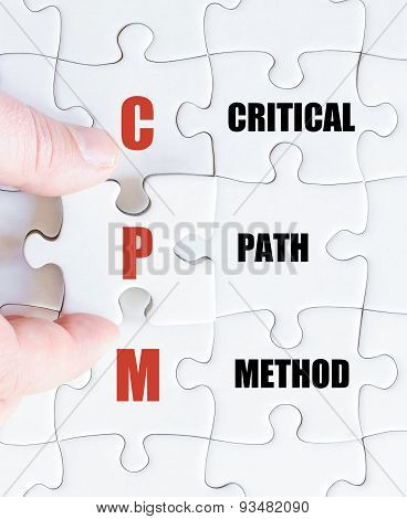 Last Puzzle Piece With Business Acronym Cpm