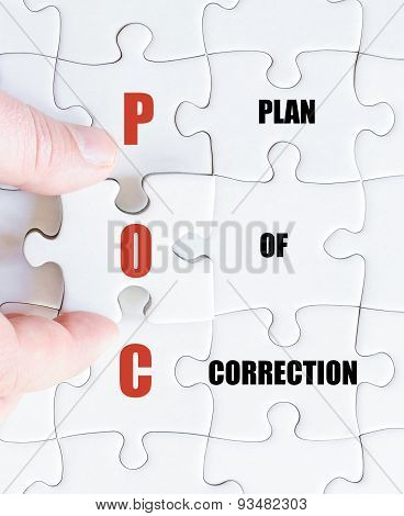 Last Puzzle Piece With Business Acronym Poc