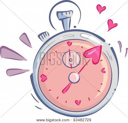 Illustration of a Stopwatch Used for Speed Dating