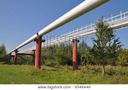 High pressure pipelines.