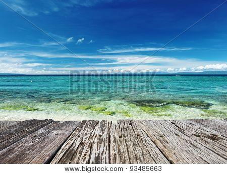 Beautiful beach at Balicasag island, Philippines