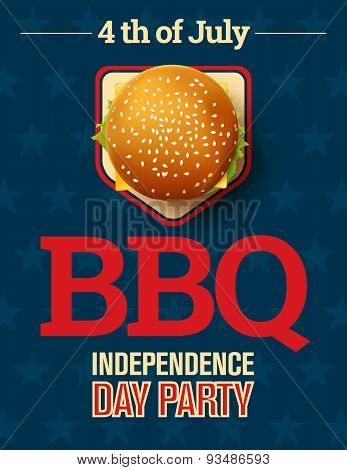 Barbecue's Party Invitation And Response Card, Fourth Of July Cerebration, Usa Independence Day