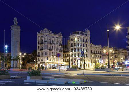 Valencia At Night, Spain