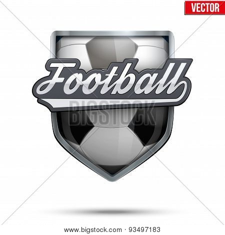 Premium symbol of Football label