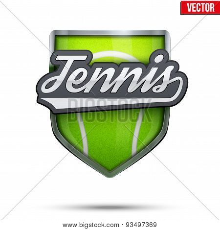 Premium symbol of Tennis label